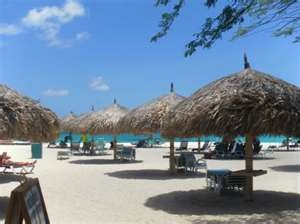 Tiki Huts La Cabana Aruba. It was so nIce to enjoy the southern ocean breeze under these. #CheapCaribbean