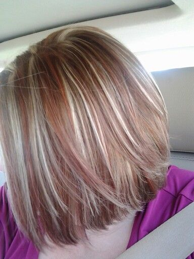 Red highlights, Blondes and Highlights on Pinterest