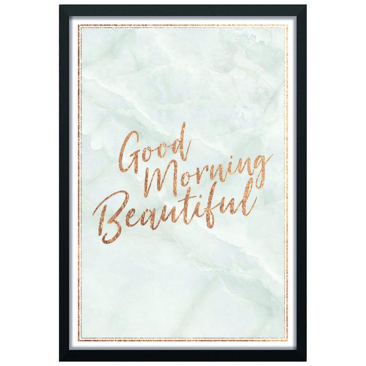 Good Morning Beautiful (Guld och Marmor) // Pris: 119kr på Postershop.nu    Finns att köpa på https://postershop.nu/produkt/posters/text-citat/good-morning-beautiful-guld-och-marmor/    #print