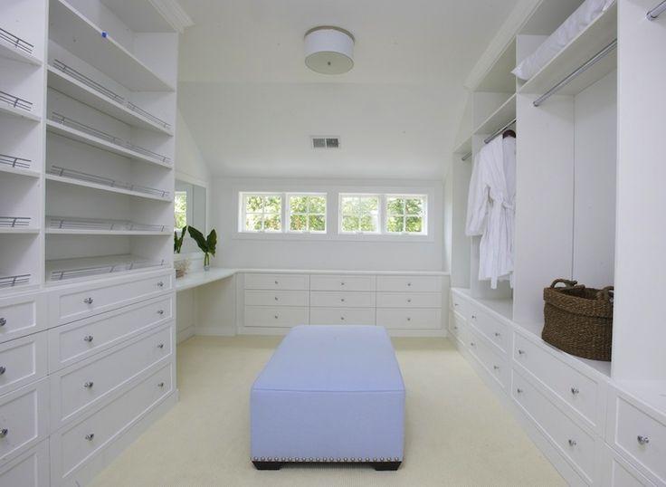 Lynn Morgan Design Huge Walk In Closet With White Built Shelves
