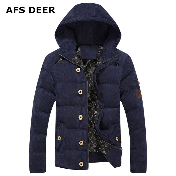 92.99$  Buy now - http://alizqz.worldwells.pw/go.php?t=32710991559 - 2016 Winter brand Snow  down Parkas men Hooded fashion Coat high quality thick corduroy solid warm zipper   men's jacket  male 92.99$