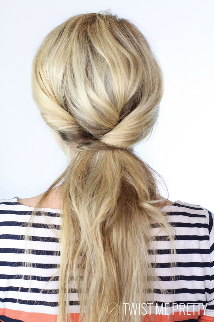 3 simple twists make this lazy day hair look runway ready!  #easyhairstyles #twists #hair