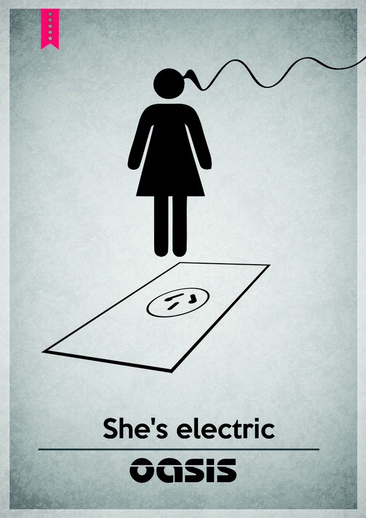 Oasis - She's Electric // Diseño grafico