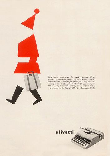 Olivetti Lettera 22 Christmas Advertising by ninonbooks, via Flickr