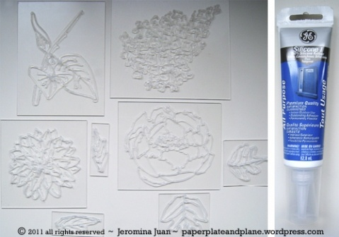 Use Silicone Rubber Caulk to Make Your Own Stamps Without Carving! #DIY #Crafts