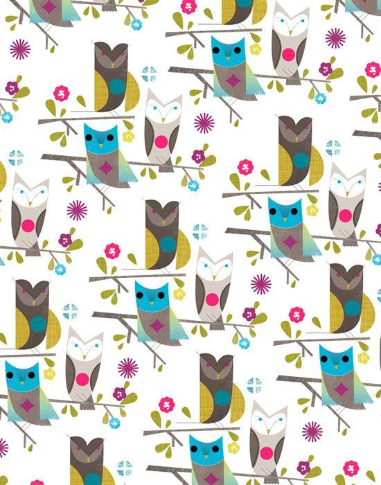 Dante Terzigni: Pastel Owl, Owl Prints, Patterns Http Bit Ly Iasnw, Gorgeous Colour, Owl Patterns Bright, Cute Owl, Owl Boards, 34 Owl Patterns, Pretty Owl