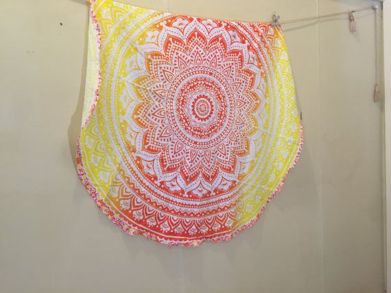 Wall Art – Bedding Boho Beach Blanket Indian Mandala Tapestry – a unique product by IndianCraftPalace on DaWanda