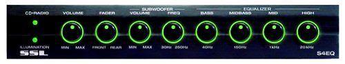 Car Audio 4 Band Pre Amp Equalizer. Subwoofer Control Processor SSL S4EQ Sound #SoundStormLaboratories
