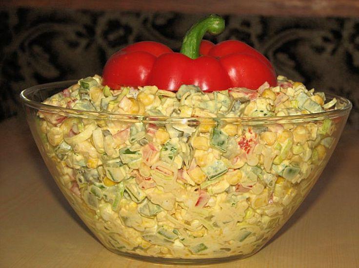 Extra sałatka z kurczakiem i kukurydzą - zdjęcie 2