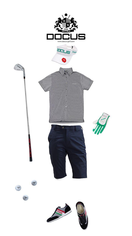 DOCUSコーディネート  ネイビーにグリーンが映える組み合わせ。  是非お試しあれ! バイザー:DCVS702 サンバイザー ホワイト/グリーン  シャツ:バックプリントボタンダウンシャツ ネイビー… パンツ:ショートパンツ ネイビー  シューズ:メイドインイタリーシューズ ブラック  グローブ:ストレッチグローブ ホワイト/グリーン #docus #docusgolf #haraken #golf #golfing #golflife #golfclothes #mens #ゴルフ #ゴルフウェア #メンズ #ゴルフコーデ #ドゥーカス #ハラケン