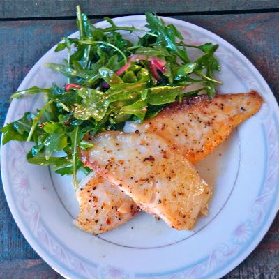 Pan Seared Tilapia in White Wine Lemon Sauce @keyingredient #healthy #quick #delicious