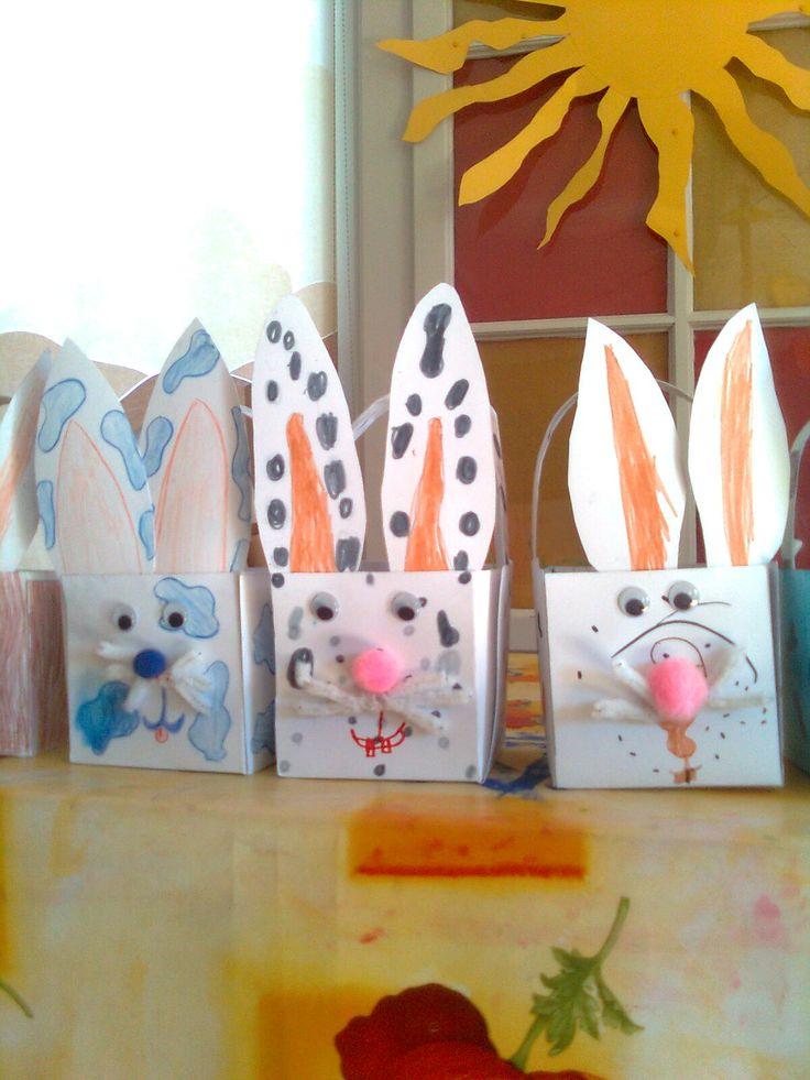 Panier lapin  Pâques  Pinterest
