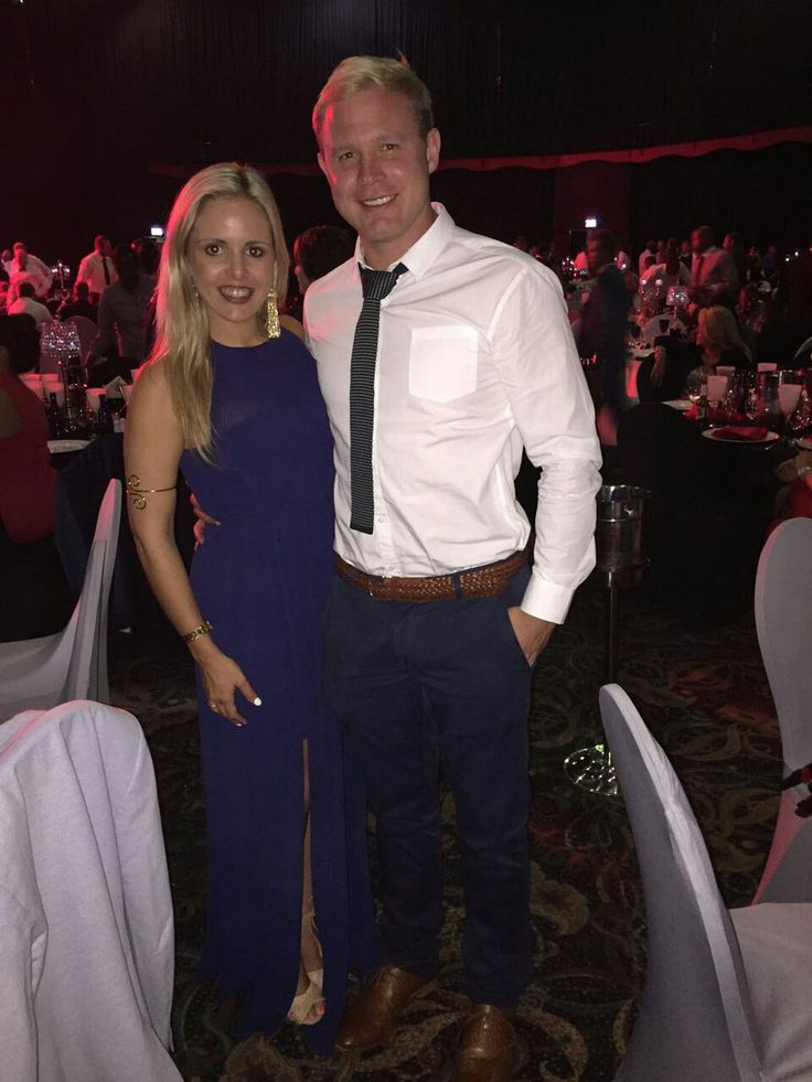 Ross Cronje and his lovely wife, Callie attending the Lions Group's Awards Night.   #LeyaTheLion #Liontainment #BeThere #MyLionsMoment #LionsAwards2017