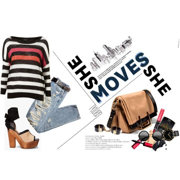 STRIPE on the STREET., created by hanum on Polyvore