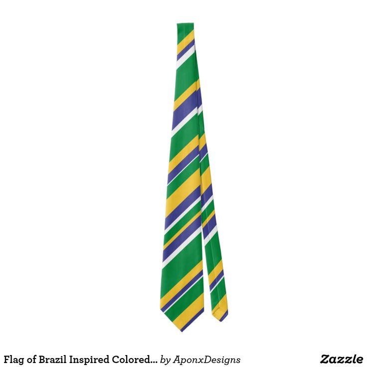 Flag of Brazil Inspired Colored Stripes Pattern