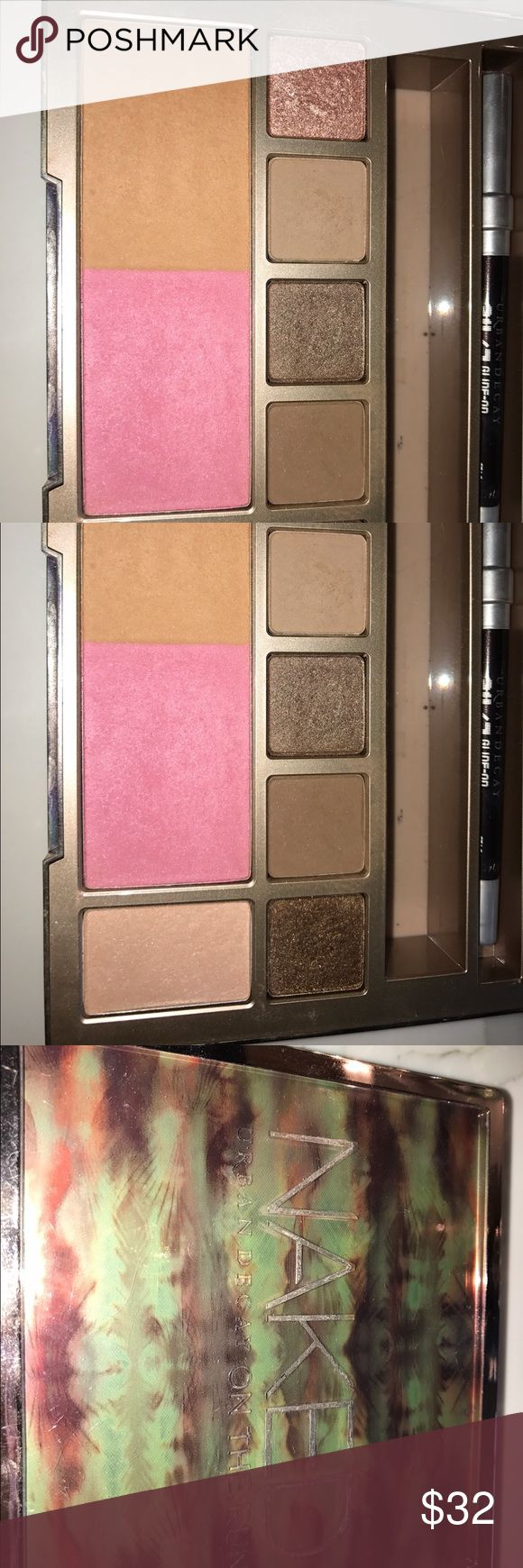 Urban Decay Naked On The Run Palette Great for travel✨5 Eyeshadows : dive, fix, resist, dare, stun plus blush and bronzer 💕1 eyeliner : stag✨do not have lipgloss and mascara and I do not have a box Urban Decay Makeup