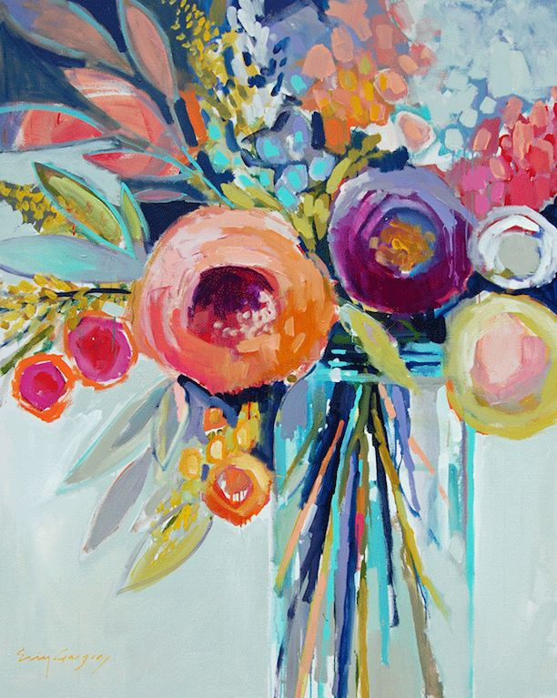 461 best images about fine art florals on pinterest for Pretty abstract paintings