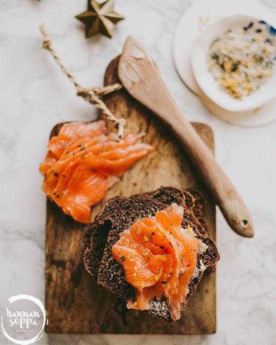 Kokit ja Potit -ruokablogi: Appelsiini-rosmariinigraavattu lohi