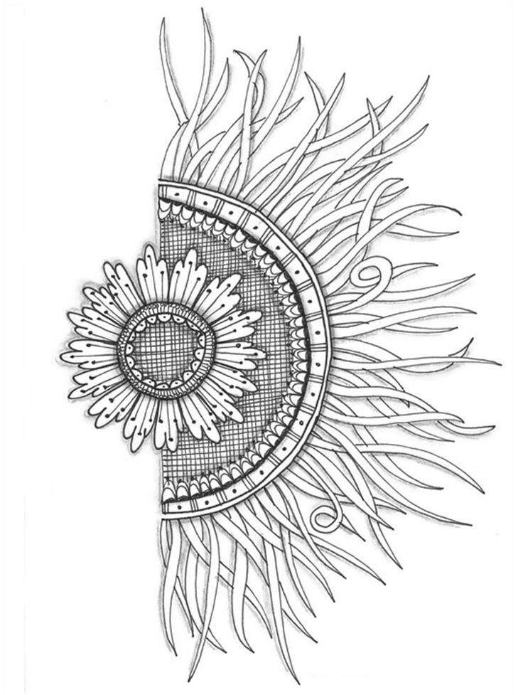 Half Flower Half Sun Love This For A Tattoo But Want It