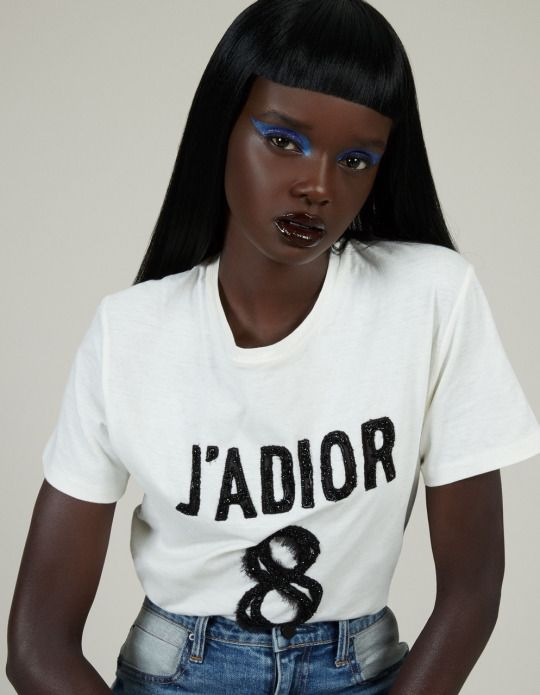 Duckie Thot photographed by Jerome Corpuz with makeup by Pat McGrath for Refinery 29
