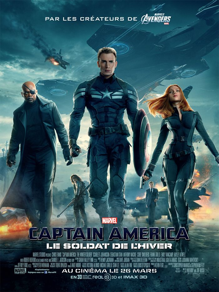 Captain America, le soldat de l'hiver est un film de Anthony Russo avec Chris Evans, Scarlett Johansson. Synopsis : Après les événements cataclysmiques de New York de The Avengers, Steve Rogers aka Captain America vit tranquillement à Washington, D.C. et essaye d