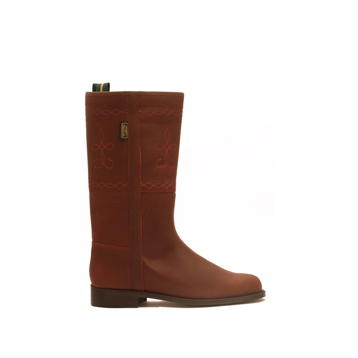 Bota Campera Piel en color Teja. mod. 305