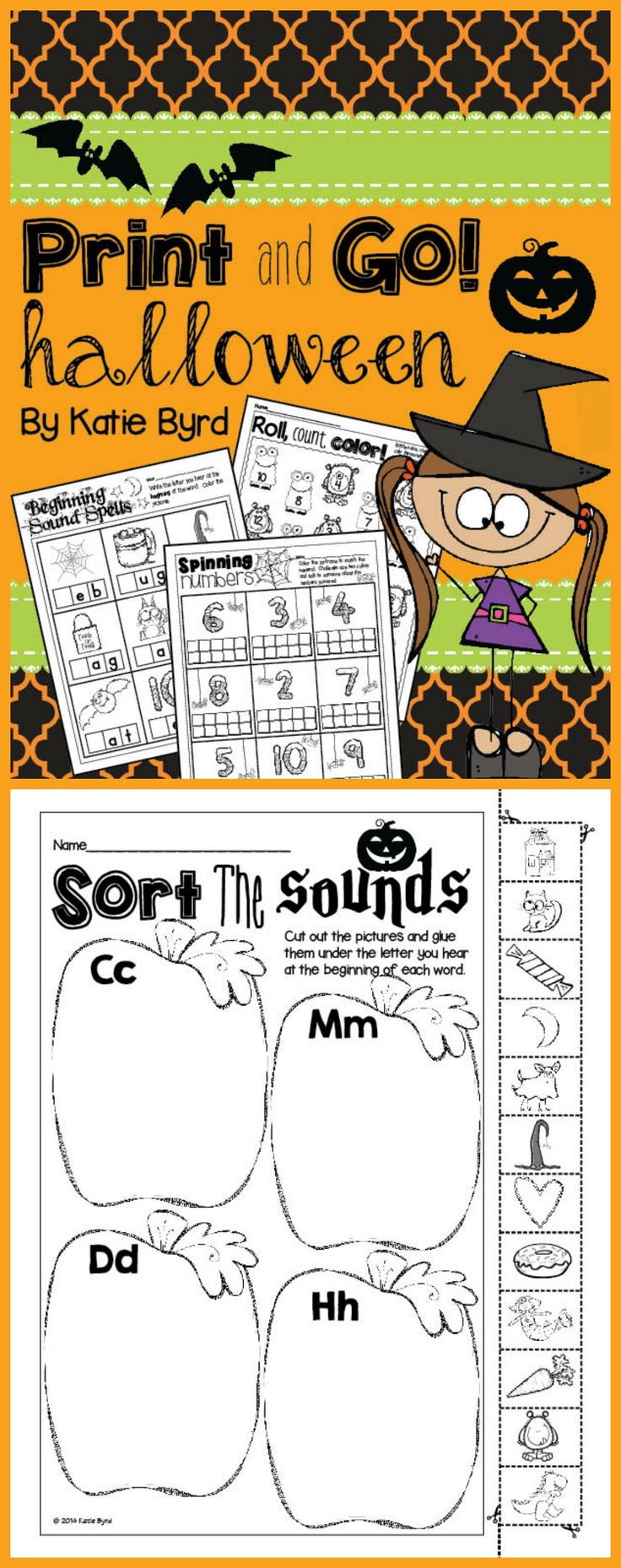 Loads of math and literacy practice pages perfect for October in kindergarten. $