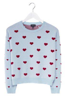 Topshop sweterek w czerwone serduszka/ little red hearts sweater