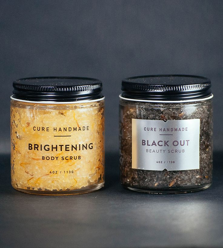 Activated Charcoal & Tangerine Face Scrub Set by Cure Handmade on Scoutmob Shoppe