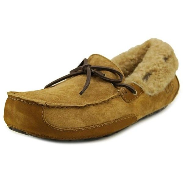 Ugg Australia Ugg Australia Fleming Men Moc Toe Suede Tan Loafer... ($113) ❤ liked on Polyvore featuring men's fashion, men's shoes, men's loafers, khaki, shoes, mens tan loafers, mens loafers, mens suede shoes, mens suede loafers and mens tan suede shoes