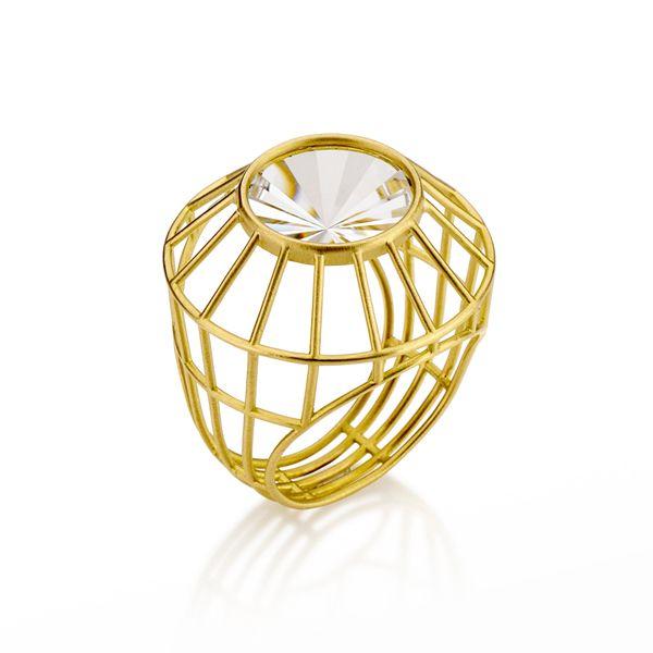Antonio Bernardo - Anel Radial, Anel em ouro amarelo 18k e quartzo incolor  Lindo !!!! My wish !!!!  2015