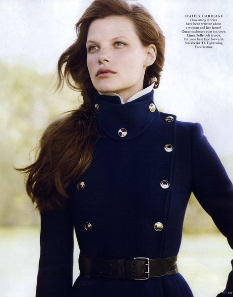 Town & Country September 2011, military navy coat