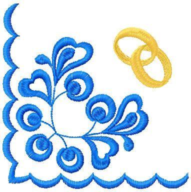 Wedding pillow corner free embroidery - Decoration free embroidery designs - Machine embroidery community