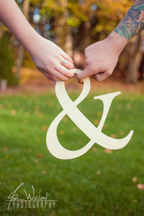 "Wooden Ampersand 12"" size, Wedding, Photo Prop. $12.75, via Etsy."