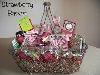 Gift basket of Paper Craft items for Silent Auction