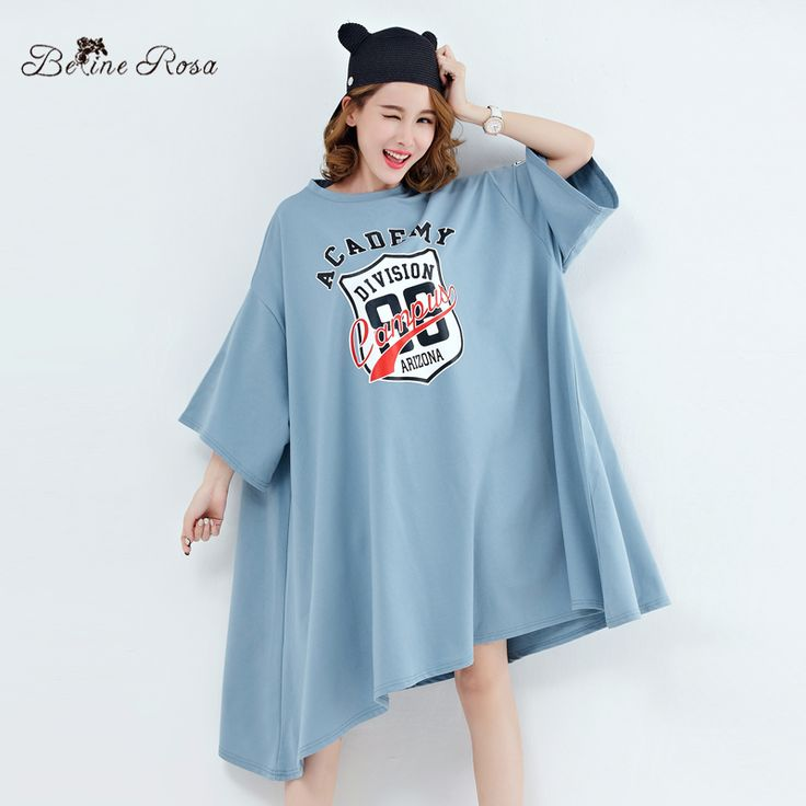$16.21  ONE SIZE  BLUE    Belininosa 2017 plus size women's clothing fashion batwing t shirt glove tunic tyw0262 on Women's Dresses Clothing & Accessories at AliExpress.com   Alibaba Group