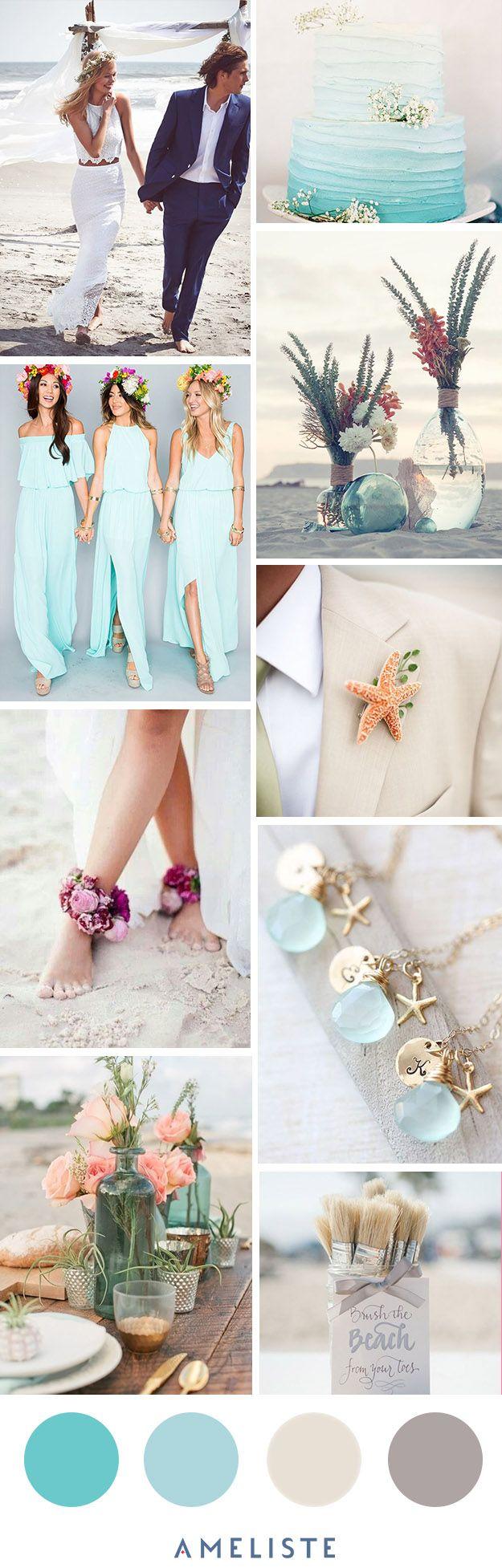 Beach Wedding // Mood Board Beach Wedding Party // Organiser son mariage à la plage #weeding #beach