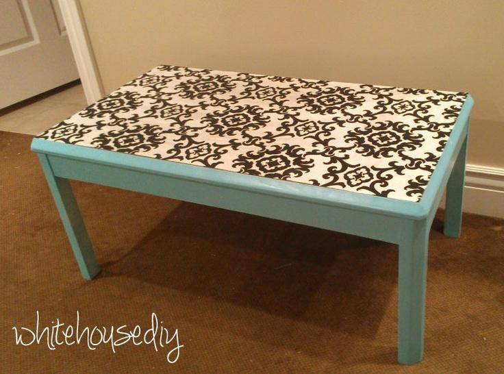 DIY Fabric Table Top: Diy Fashion, Diy Fabrics, White House Diy