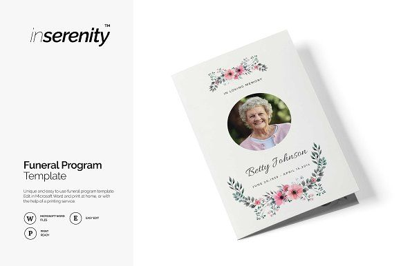See all of out other funeral program template designs  here -See all of out other funeral program template designs  here -https://creativemarket.com/inserenity