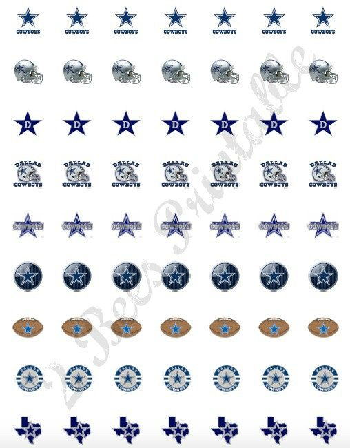 Printable Dallas Cowboys Stickers for Planners