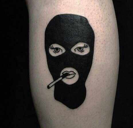 Ski mask tattoo
