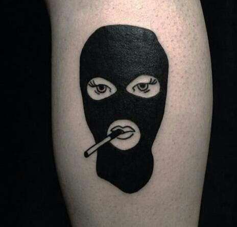 25 best ideas about mask tattoo on pinterest skull face for Face mask tattoo