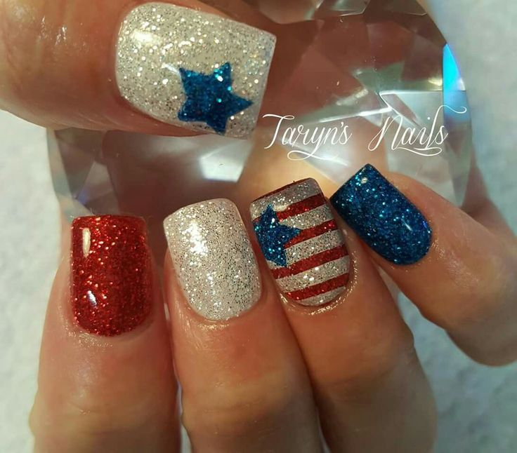Cool 50+ Awesome 4th Of July Nails https://www.fashiotopia.com/2017/06/08/50-awesome-4th-july-nails/ Any three nail polishes colors. It is not difficult to not wish to bite your nails. Growing long finger nails might be difficult action to do if you're continually dieting.