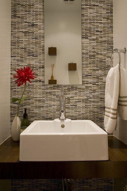 Vanity To Ceiling Tiles Behind Mirror Bathroom Remod Pinterest Powder Vanities And Design