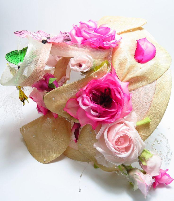 #cappello #hat #rose #fiori #flowers #Firenze #artigianato #handmade #Florence #fattoamano