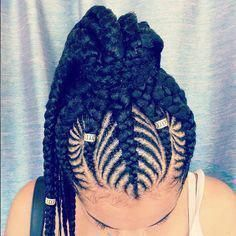 "Most commonly known as ""goddess braids,"" cornrows, a style we've all grown up we…   – Black women models"