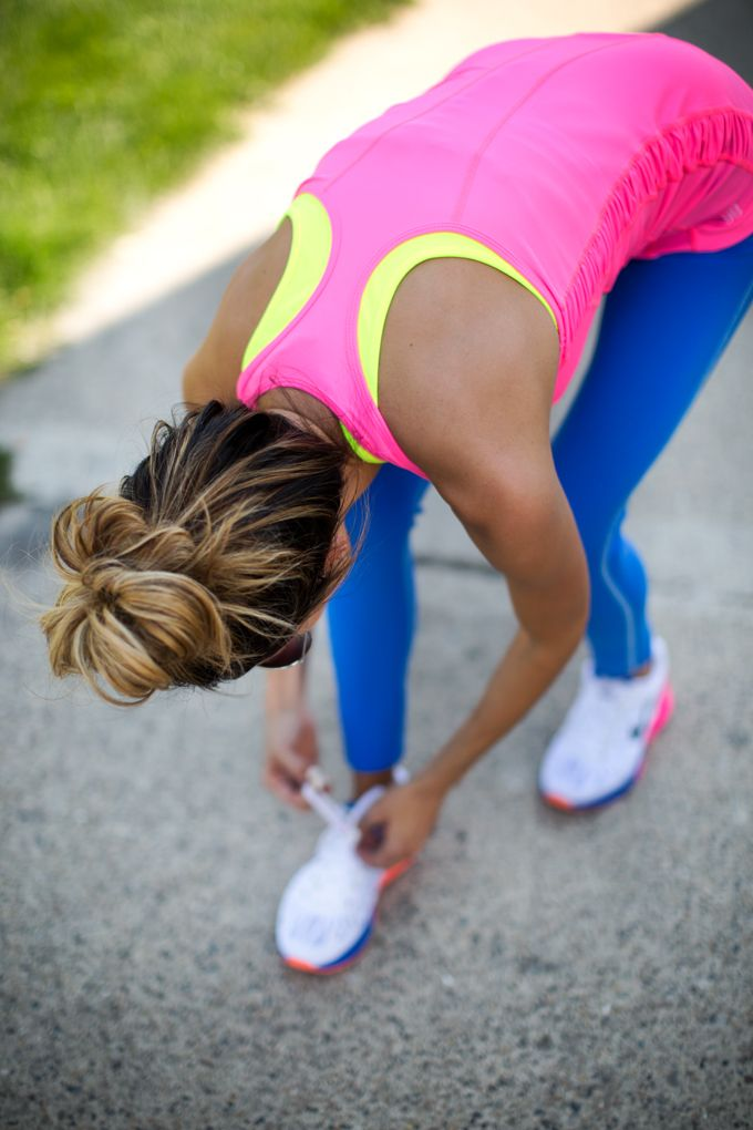Colourful workout outfit. #Fitgirlcode #color #fashion