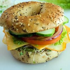 Veggie and Cheese bagel