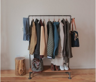 Homemade Clothing Rack