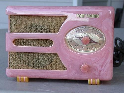 Art Deco Pink Tom Thumb Catalin Radio